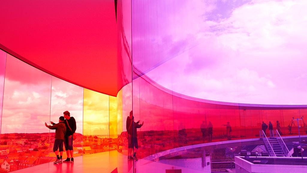 Rainbow panorama in Aaros